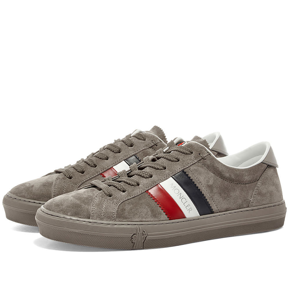 Photo: Moncler New Monaco Tricolour Band Suede Cupsole Sneaker