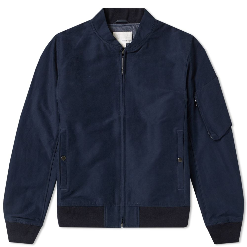 Photo: Nanamica Moleskin NA1 Jacket Blue