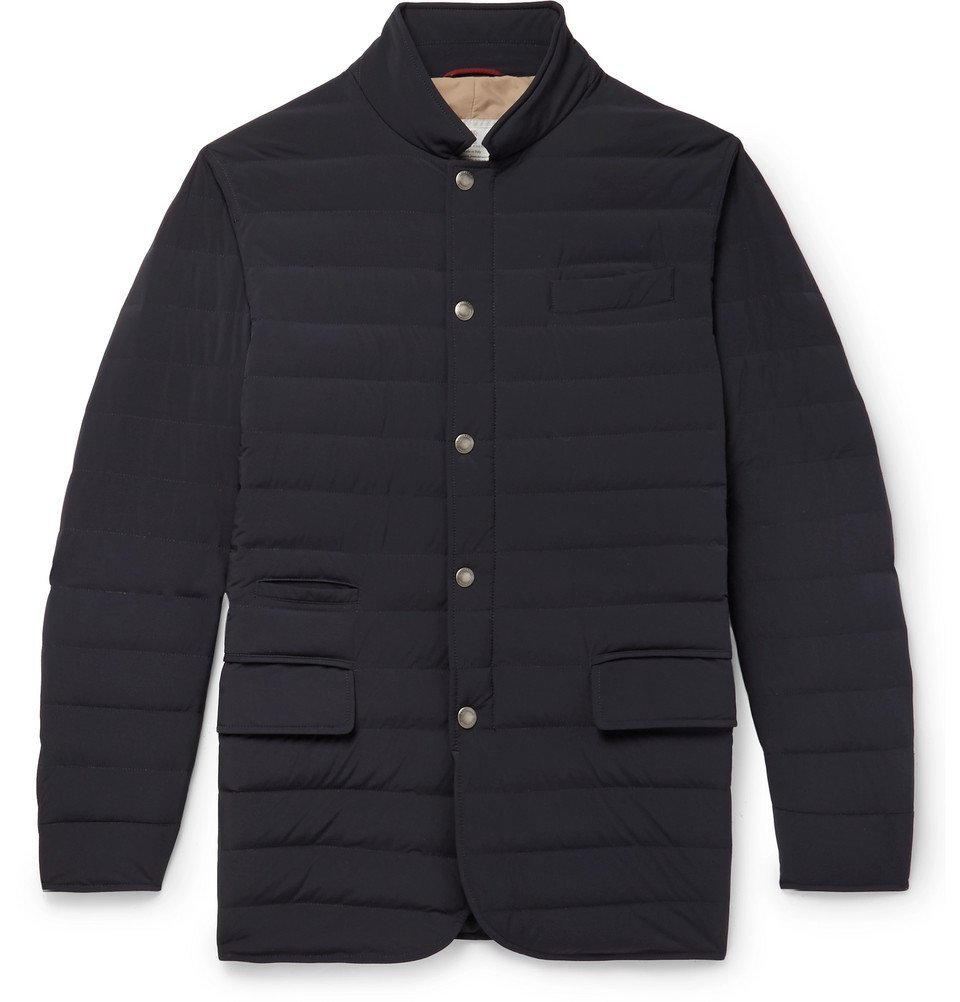 Photo: Brunello Cucinelli - Slim-Fit Quilted Shell Down Jacket - Navy