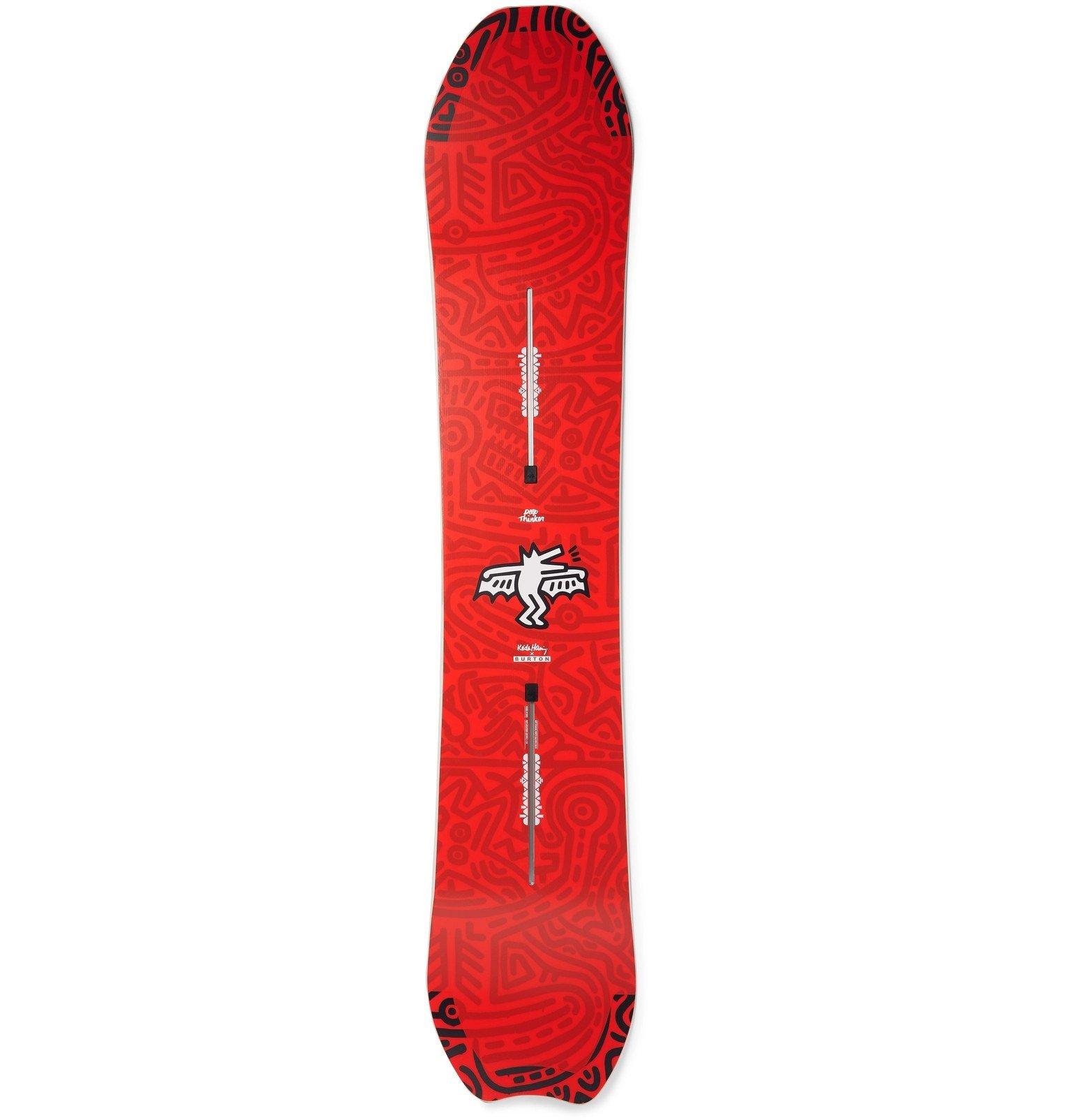 Photo: Burton - Deep Thinker 154 Camber Snowboard - Red
