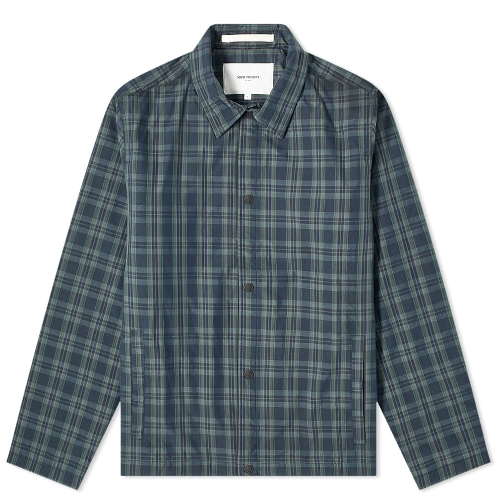 Photo: Norse Projects Svend Insulated Check Shirt Jacket