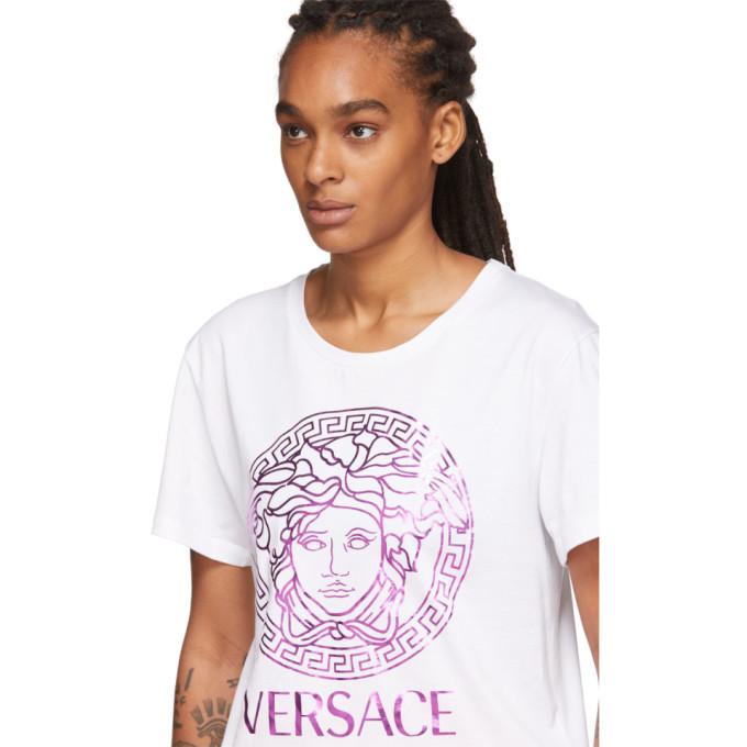 Versace White Metallic Medusa T-Shirt