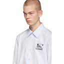 Raf Simons Blue Heroes and Losers Slim Fit Shirt