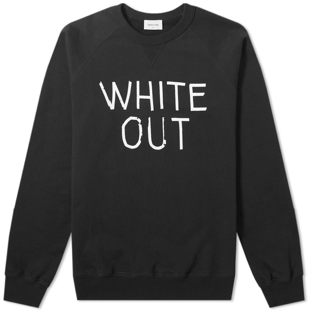 Wood Wood Hester White Out Crew Sweat