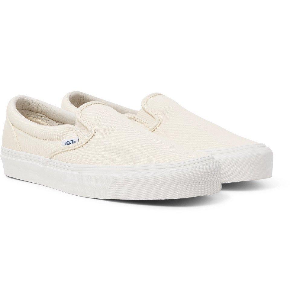 Photo: Vans - OG Classic LX Canvas Slip-On Sneakers - White