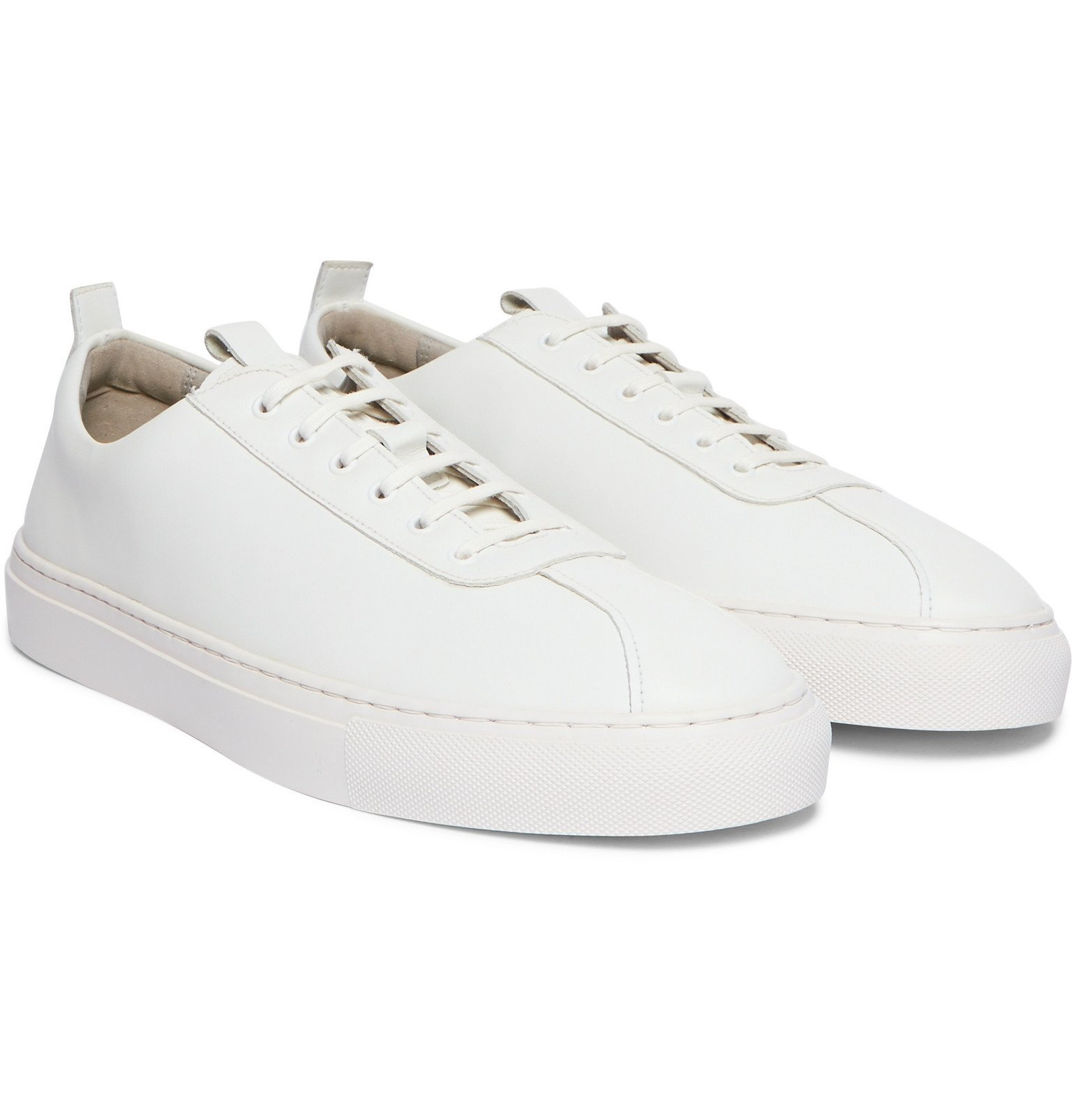 Photo: Grenson - Faux Leather Sneakers - White