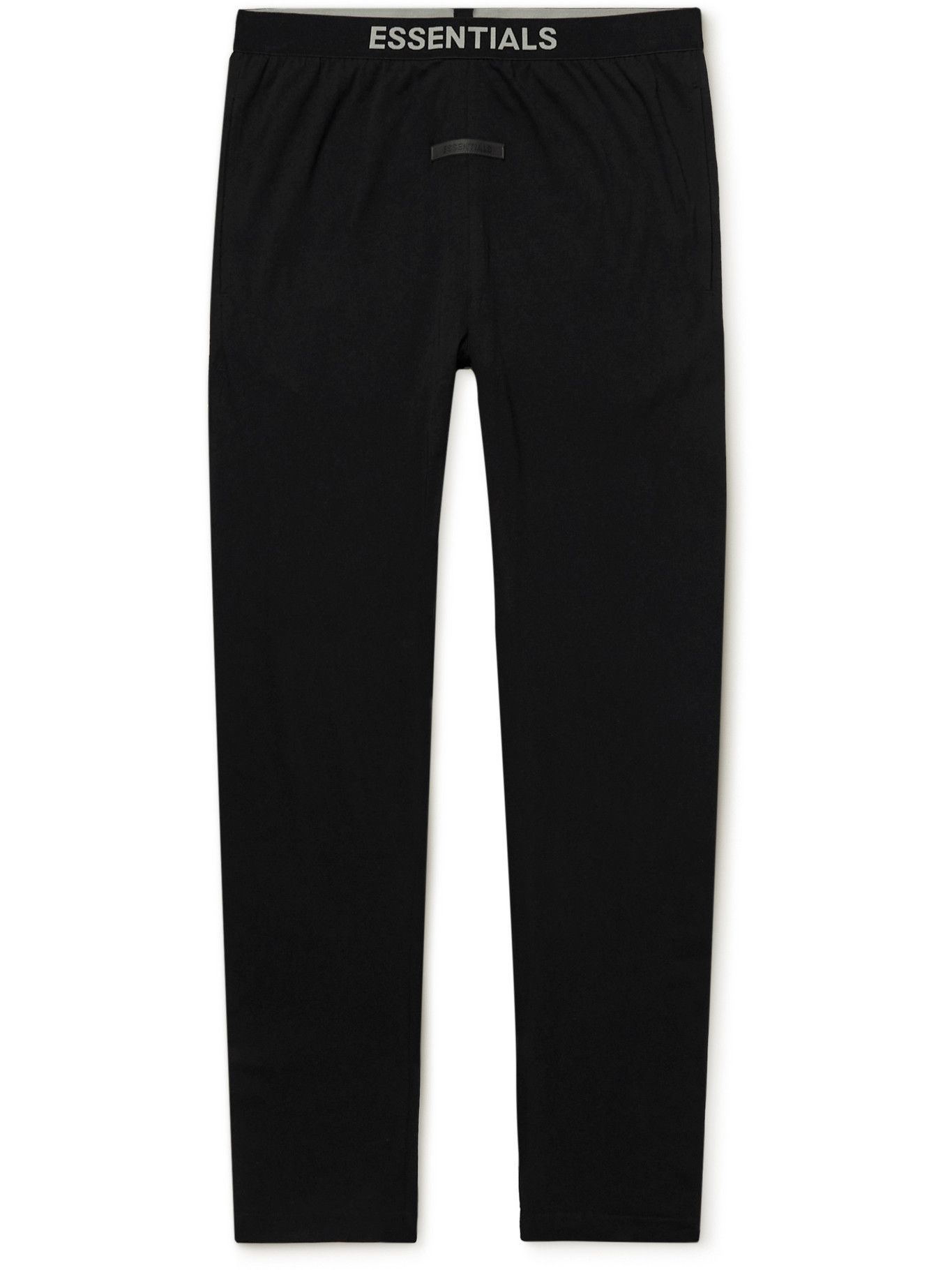 Photo: Fear of God Essentials - Slim-Fit Tapered Cotton-Blend Jersey Sweatpants - Black