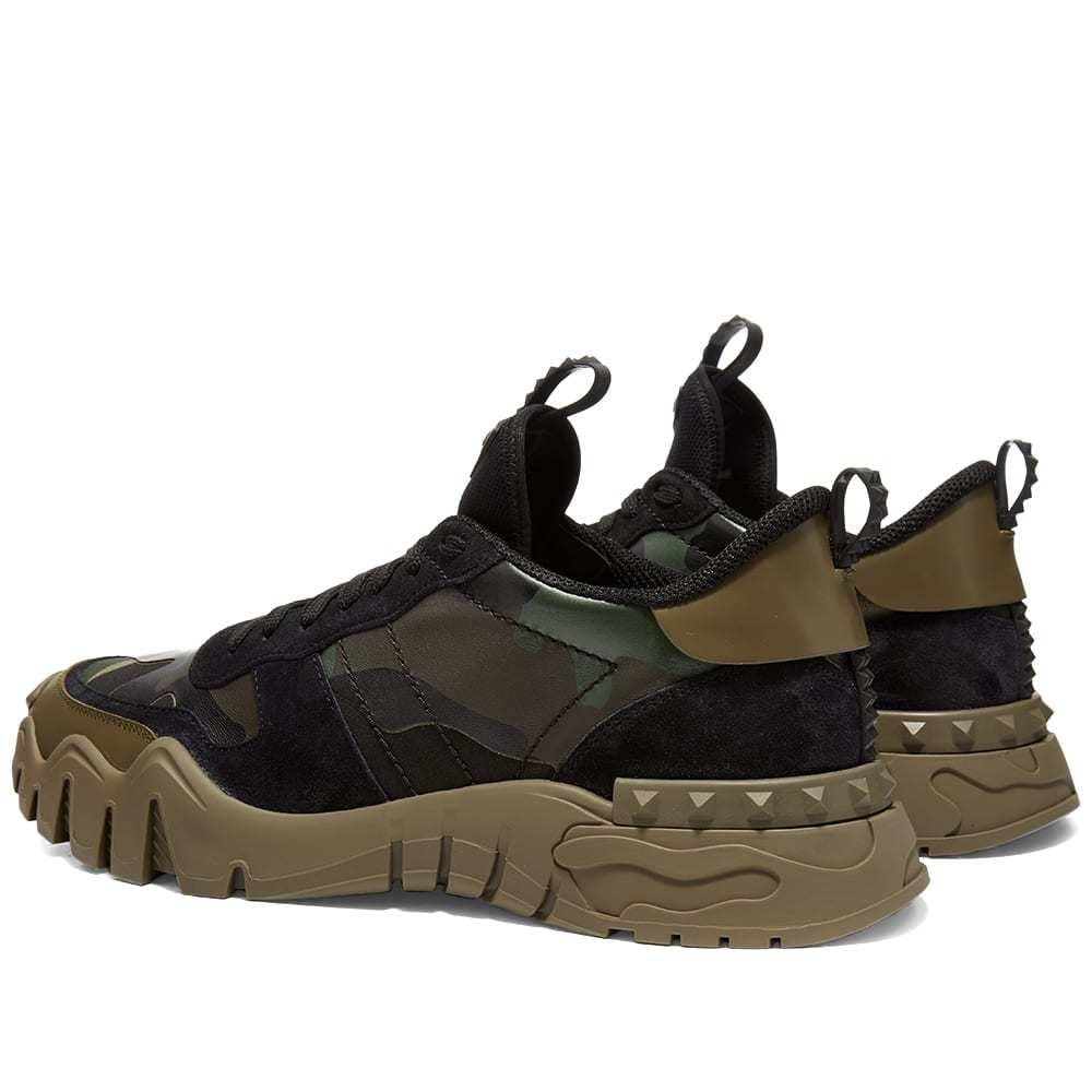 Valentino Rockrunner Plus Oversize Mesh Camo Sneaker
