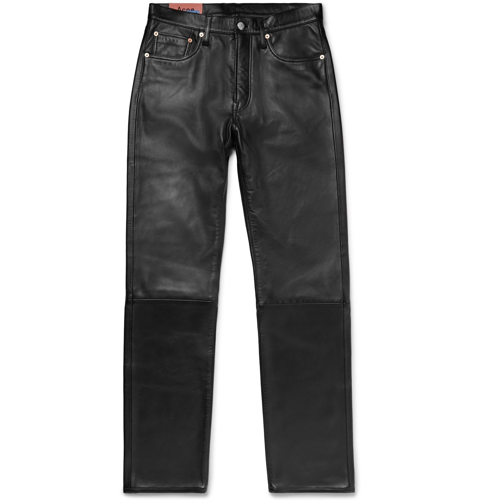 Acne Studios - 1996 Slim-Fit Leather Trousers - Black