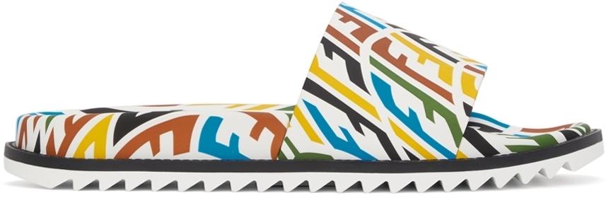 Photo: Fendi Multicolor FF Vertigo Slides