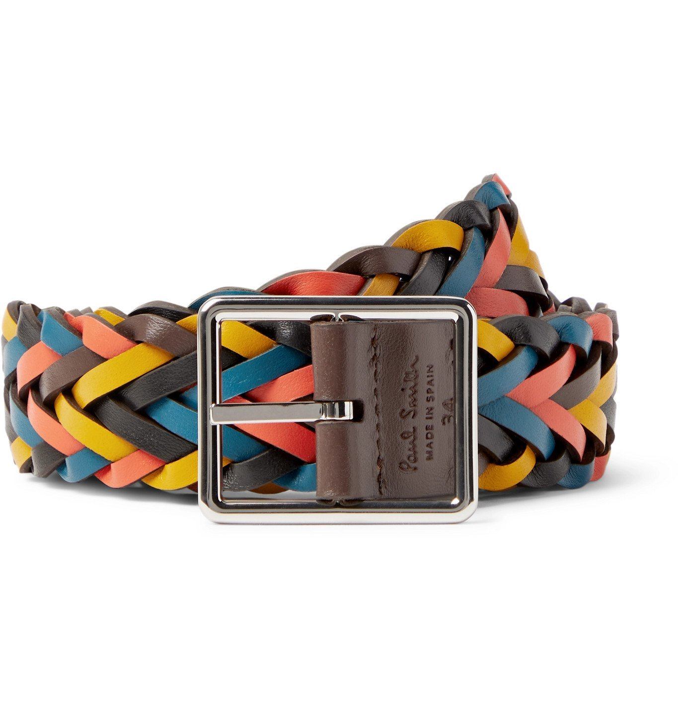 Photo: Paul Smith - 3.5cm Reversible Braided Leather Belt - Multi