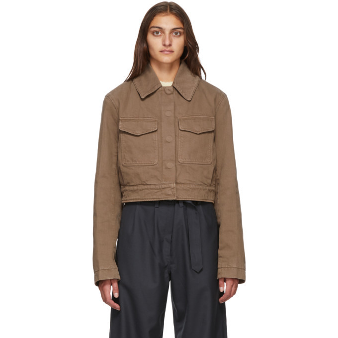 Photo: Lemaire Brown Short Denim Blouson Jacket