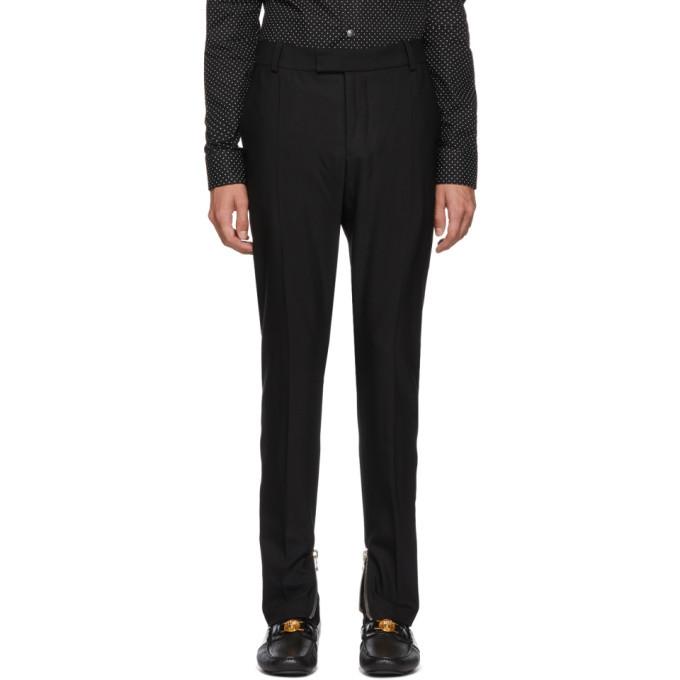 Photo: Balmain Black Wool Formal Trousers