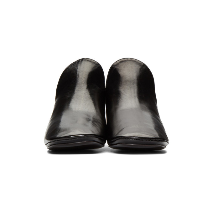 Lemaire Black Soft Heeled Loafers