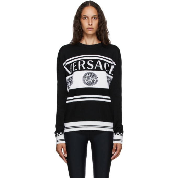 Photo: Versace Black and White Vintage Medusa Sweater