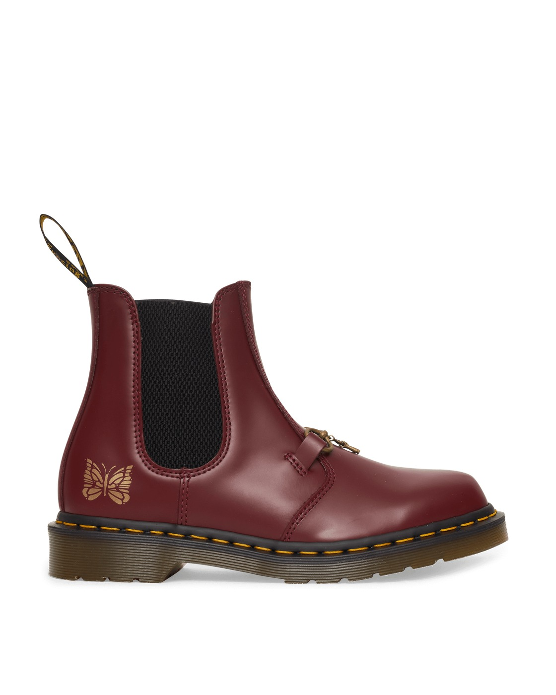 Photo: Dr Martens Needles 2976 Chelsea Boots Cherry Red