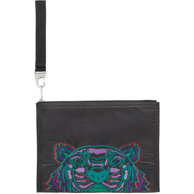 Photo: Kenzo Grey Limited Edition Holiday Kampus Tiger Pouch
