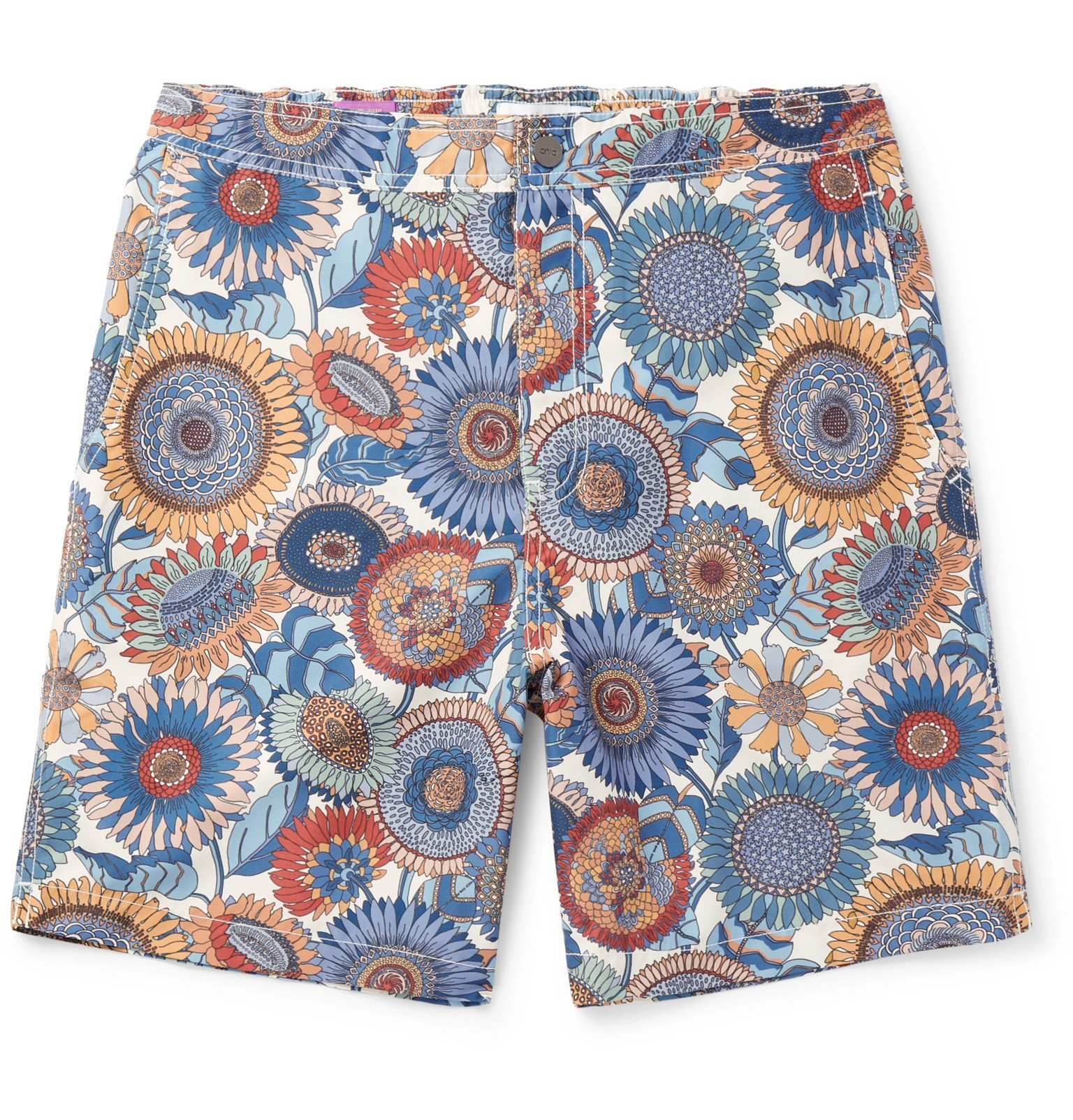 Photo: Onia - Calder Long-Length Printed Swim Shorts - Multi