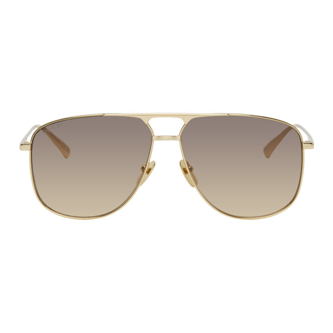 Photo: Gucci Gold Aviator Sunglasses