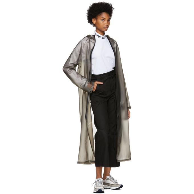 Won Hundred Grey Transparent Hooded Raincoat