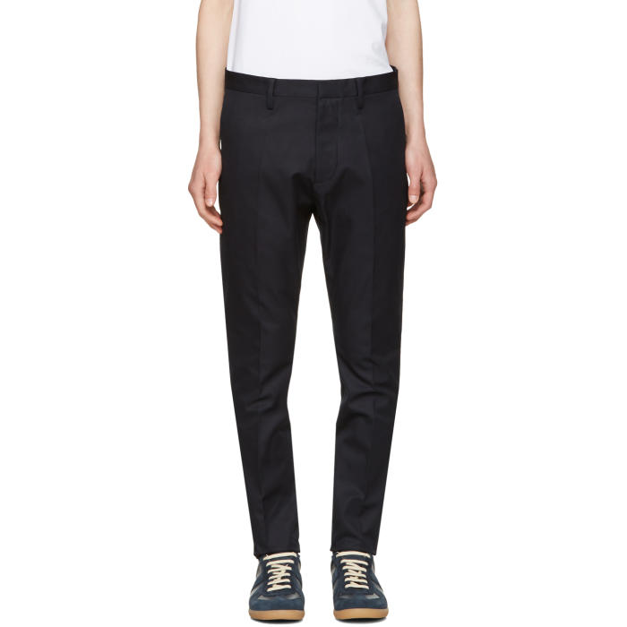 Photo: Dsquared2 Navy Cotton Chinos