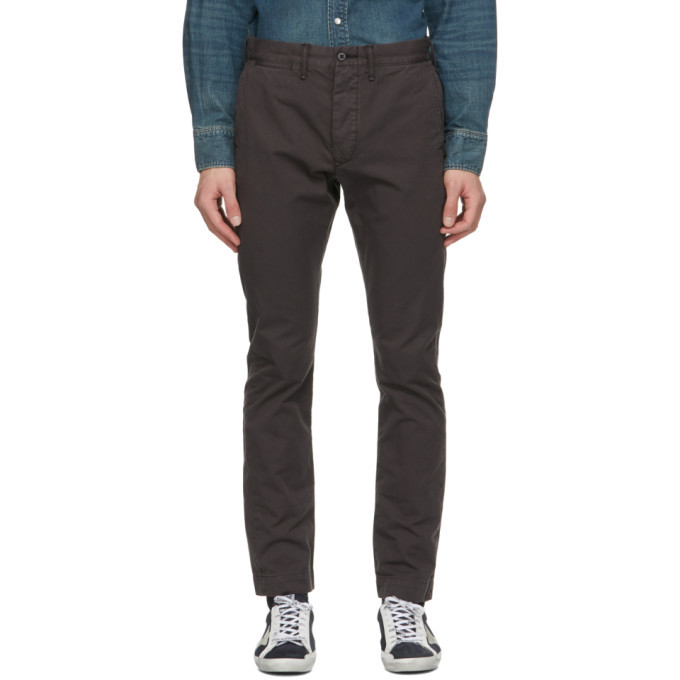 RRL Black Slim Fit Chino Trousers