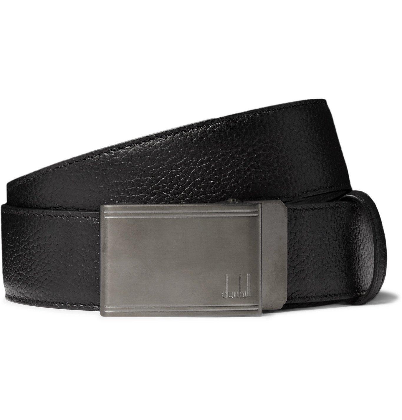 Photo: Dunhill - 4cm Full-Grain Leather Belt - Black