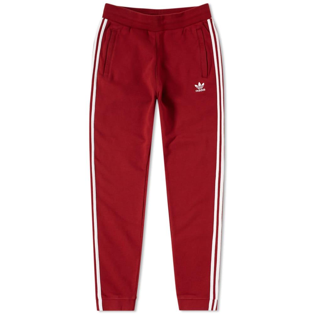 Photo: Adidas 3 Stripe Sweat Pant Red