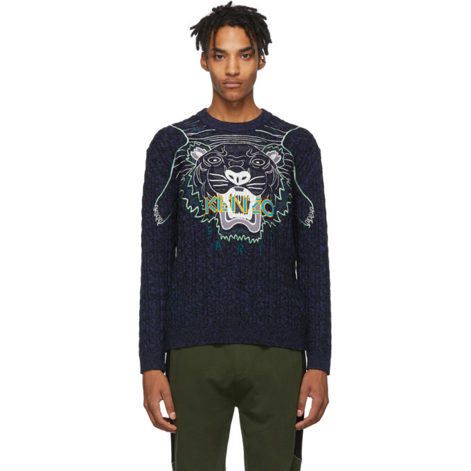 Photo: Kenzo Navy Embroidery Claw Tiger Sweater