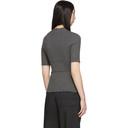 3.1 Phillip Lim Gunmetal Lurex Ribbed Short Sleeve Top