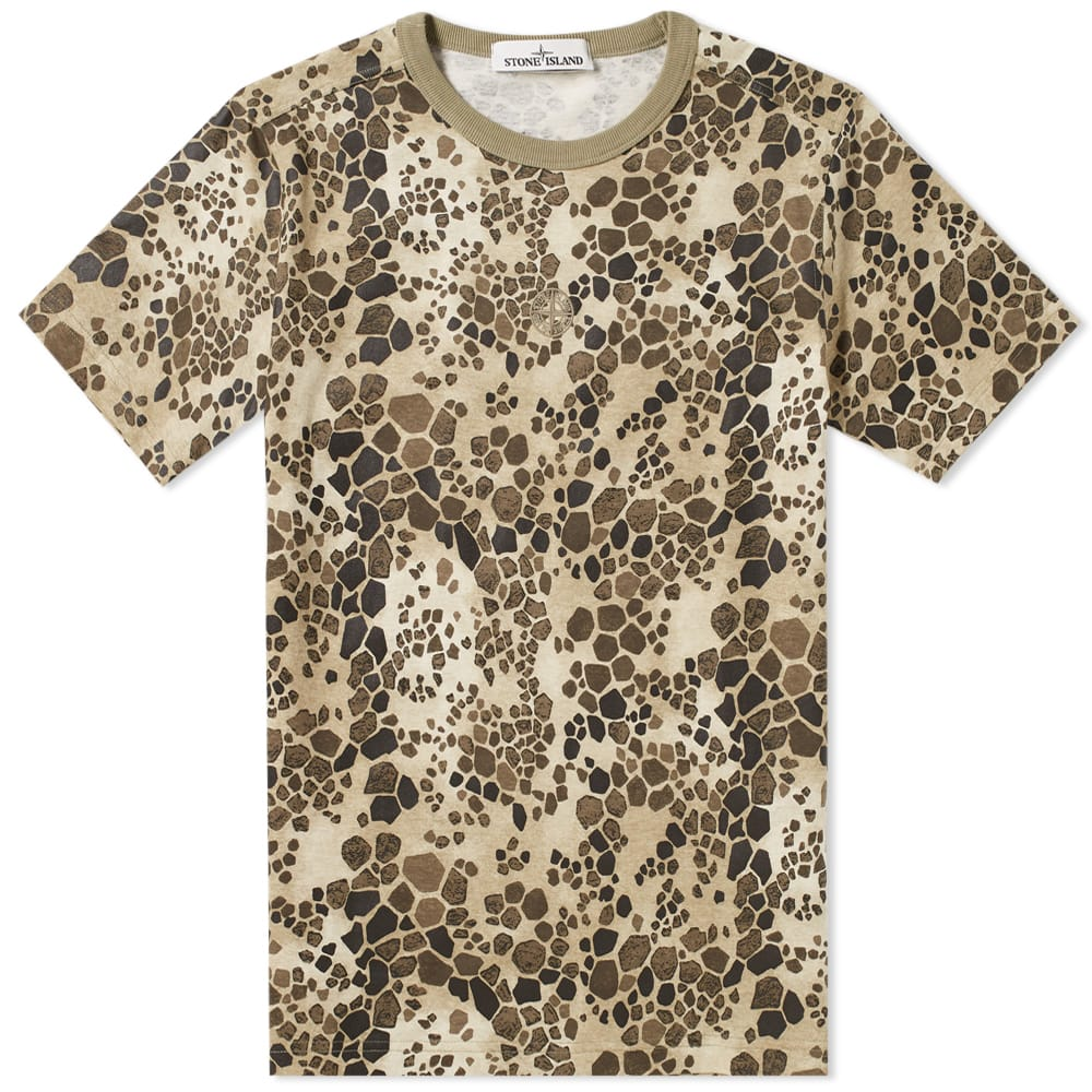 Photo: Stone Island Alligator Camo Tee