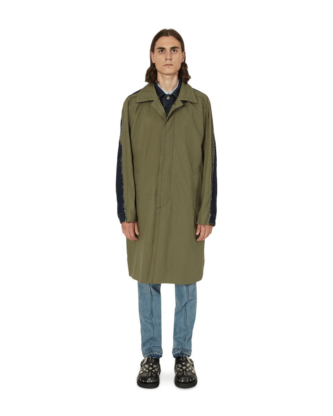 Photo: Sacai Denim Jacket In Oxford Coat Khaki