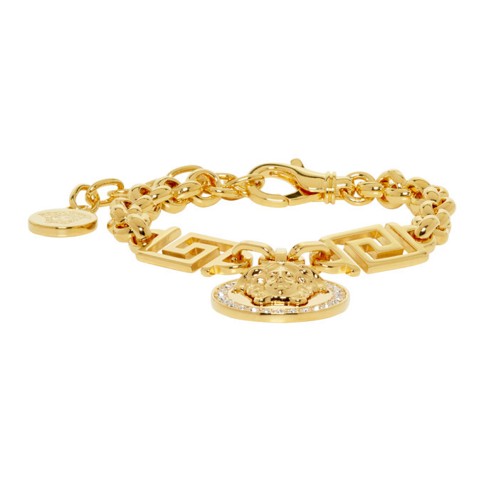 Photo: Versace Gold Greek Key Bracelet
