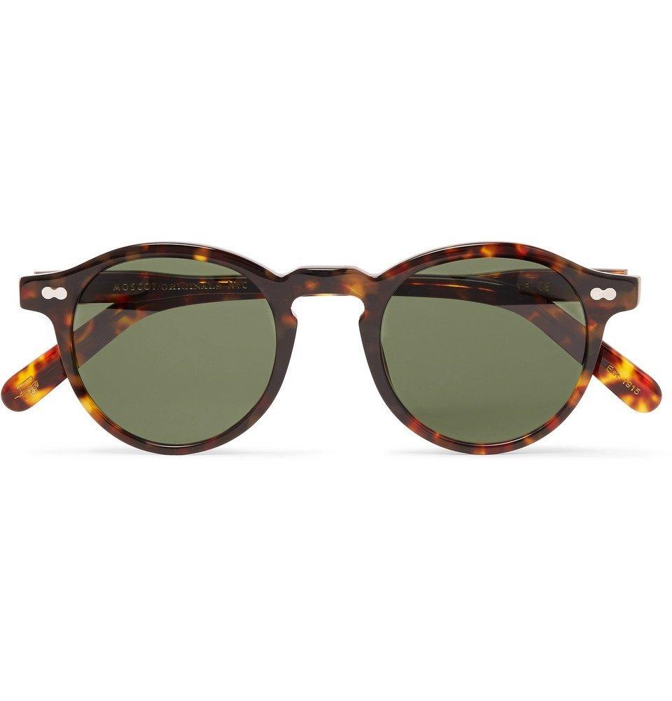 1d4f68d60bf Photo  Moscot - Miltzen Round-Frame Tortoiseshell Acetate Sunglasses - Men  - Tortoiseshell