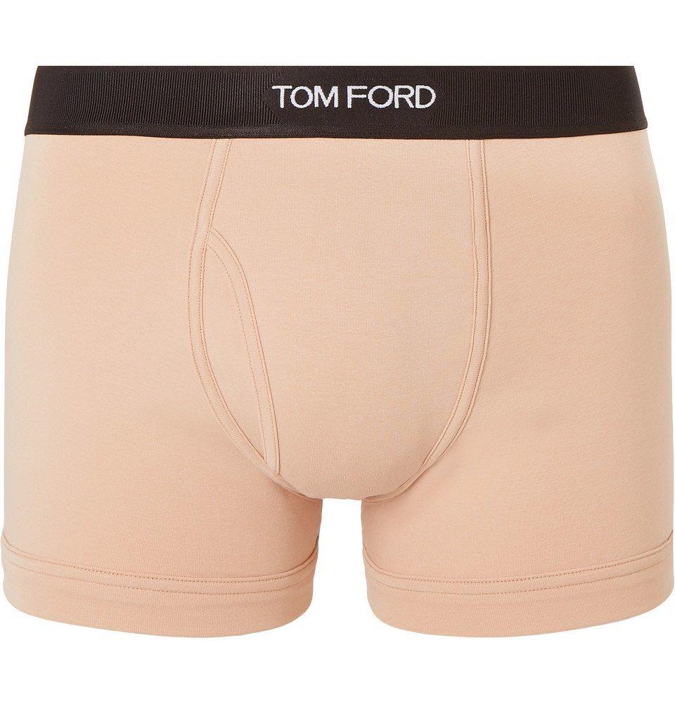 Photo: TOM FORD - Stretch-Cotton Boxer Briefs - Beige