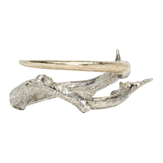 Photo: Pearls Before Swine Silver and Gold Thorn Ring