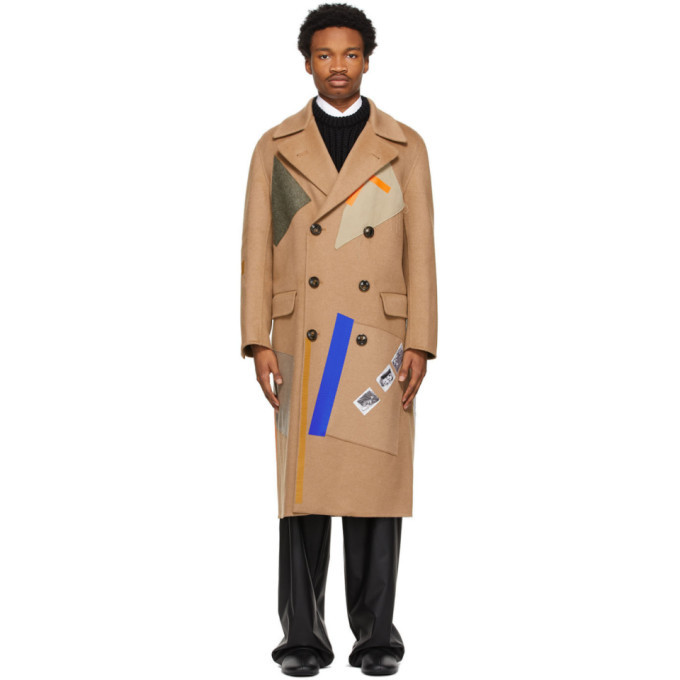 Photo: Raf Simons Beige Sterling Ruby Edition Patches Coat