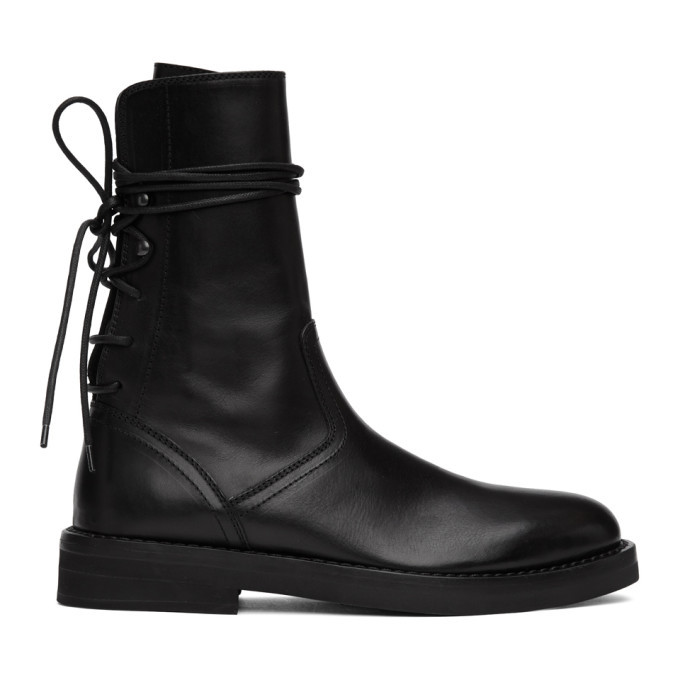 Photo: Ann Demeulemeester Black Back Lace-Up Tucson Boots