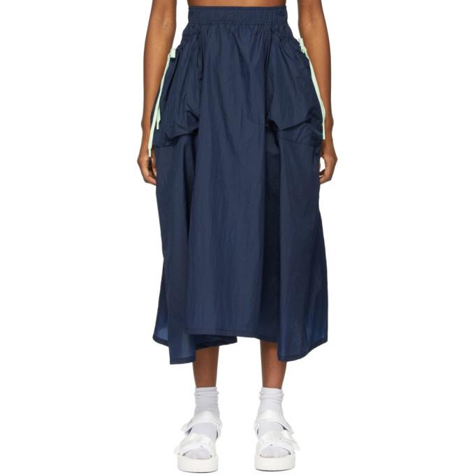 Photo: SJYP Navy Drawstring Pocket Skirt