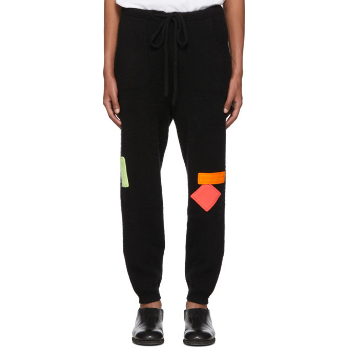 The Elder Statesman Black Heavy Lounge Pants