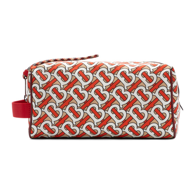 Photo: Burberry Red Monogram Pouch