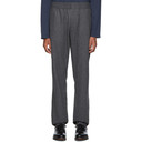 Sunspel Grey Wool and Cashmere Flannel Trousers