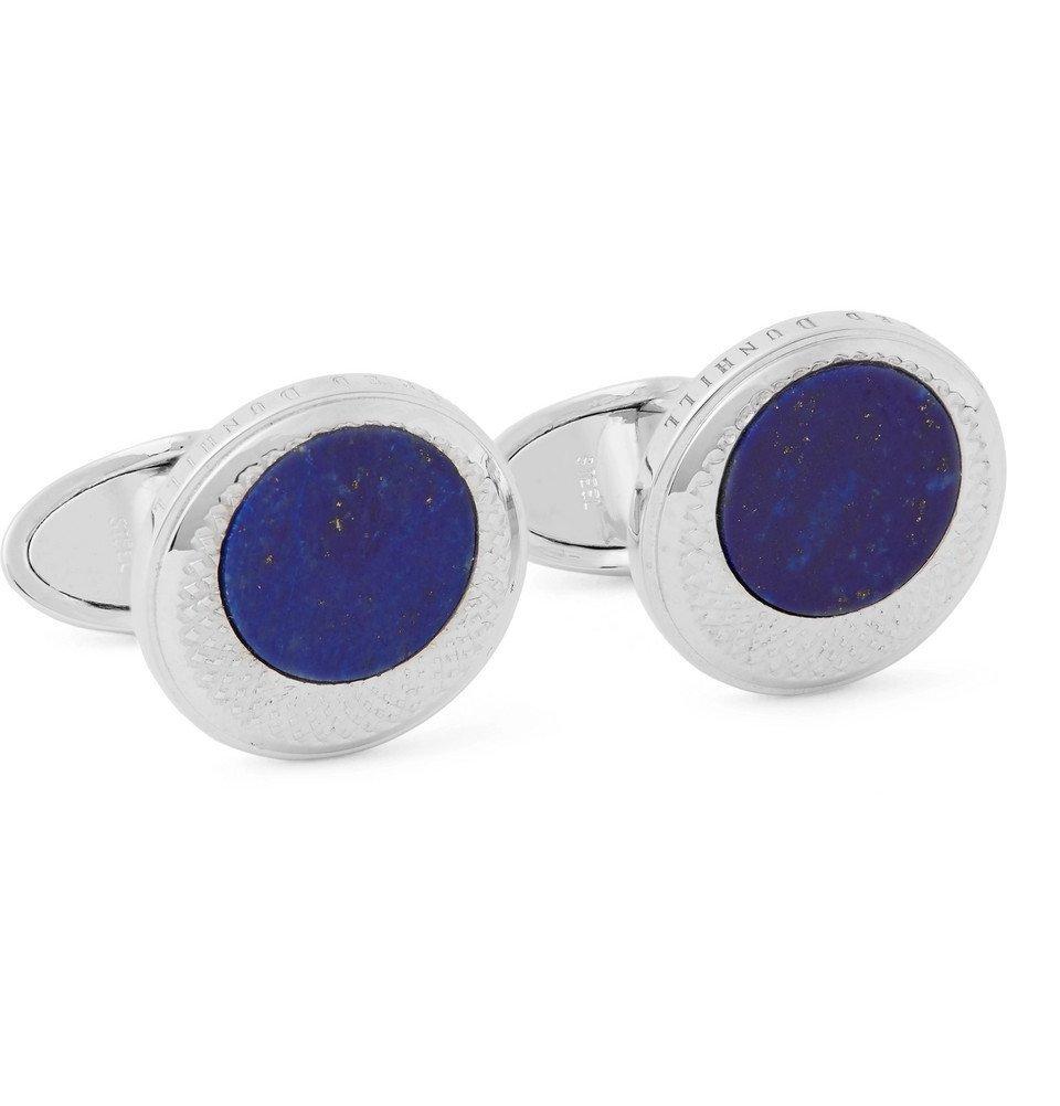 Dunhill - Sterling Silver Lapis Cufflinks - Men - Silver