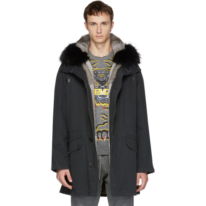 Photo: Yves Salomon Black Original Fur Parka