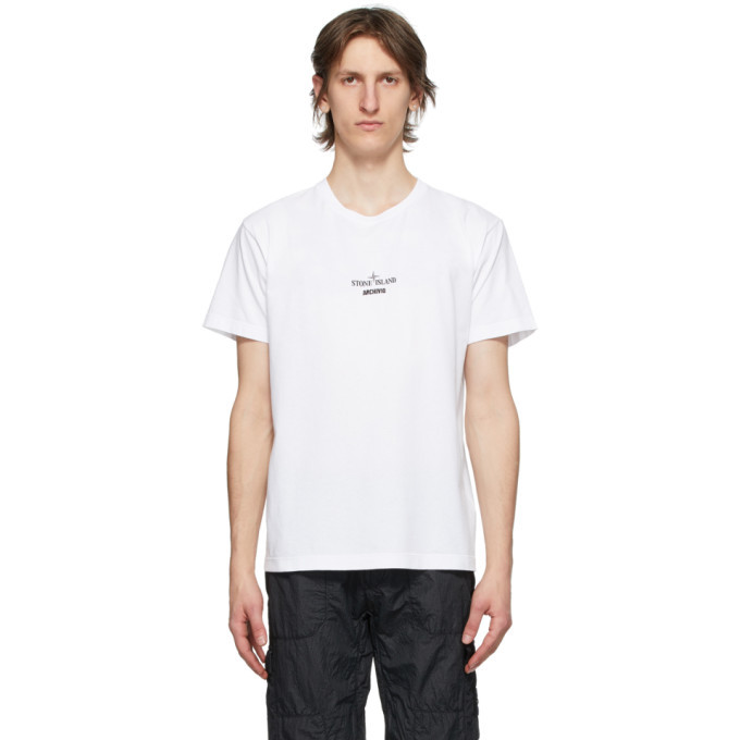 Photo: Stone Island White Archivio Project T-Shirt
