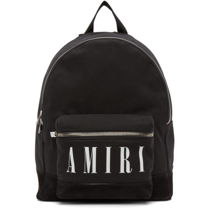 Photo: AMIRI Black Core Logo Backpack