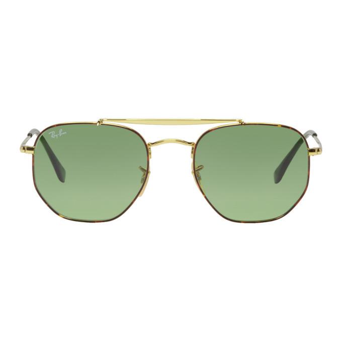 Photo: Ray-Ban Gold The Marshal Aviator Sunglasses