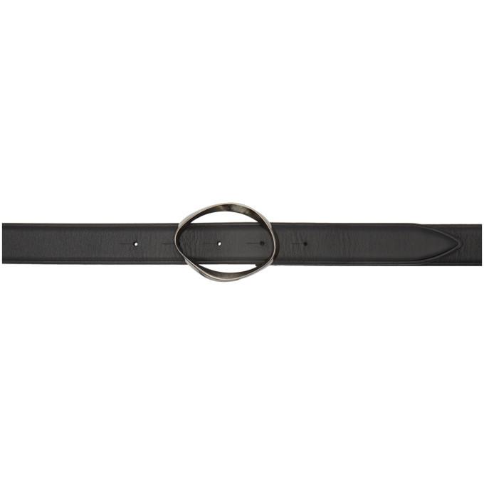 Photo: Lanvin Black Deformed Buckle Belt