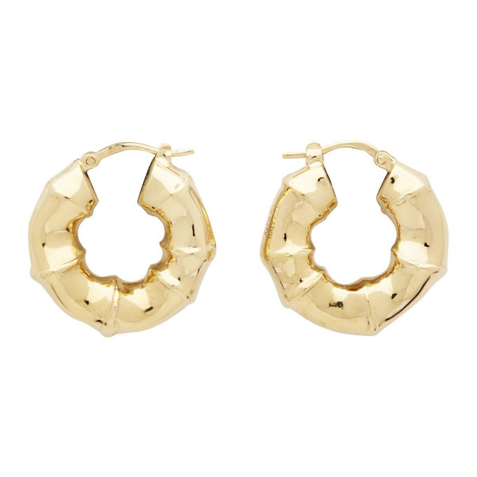 Photo: Bottega Veneta Gold Sterling Earrings