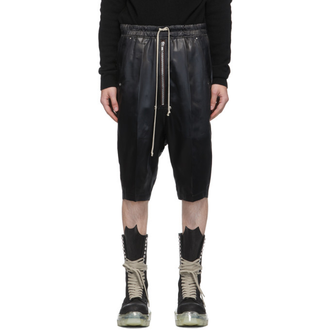 Photo: Rick Owens Black Satin Bela Pods Shorts